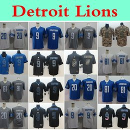 Jerseys service online shopping - Mens Salute to Service Detroit Lions nfl Matthew Stafford Football Jerseys Johnson Barry Sanders Vapor Untouchable Jersey