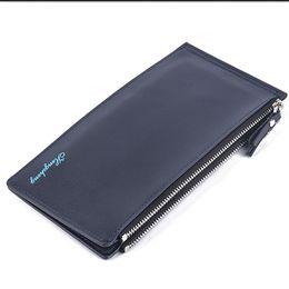Long Male Wallet Zipper Australia - 2019 Wallet Men's Wallet With Cell Phone Bag Ultra-thin Long Zipper Wallet For Men Slim Clutch Purse For Male