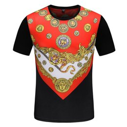 Discount round t man model - 19 years summer new short-sleeved men round neck pull-up stitching bottoming shirt fashion explosion models hot T