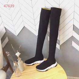 Thighs High Boots Australia - New fashion Winter new over the knee thigh-high boots women fashion wool sock stretch boots stars lady winter high quality boots