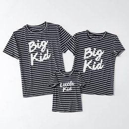 $enCountryForm.capitalKeyWord UK - Mommy And Me Striped Letters T Shirts 2019 Family Matching Cartoon Clothes Mother And Daughter Short Sleeve T-Shirt Family Summer Look