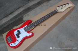 Discount child guitars - Free shipping CHILDREN BASS electric guitar Rosewood fingerboard Mahogany body with red pickguard