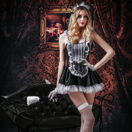 exotic hot dress Australia - Sexy French Maid Cosplay Costume for Adult Women Exotic Maid Lingerie Hot Sexy Room Service Halloween Fancy Party Dress 6003