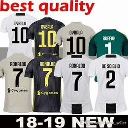 bce63cacb Top Thai 2019 JUVENTUS RONALDO Soccer Jersey 18 19 JUVE 2018 2019 DYBALA  HIGUAIN Football Shirt CRISTIANO MANDZUKIC Uniform Team