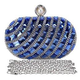 $enCountryForm.capitalKeyWord Australia - Women'S Luxurious Crystal Rhinestone Evening Clutch Purse Party Handbag (Blue)
