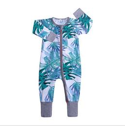 $enCountryForm.capitalKeyWord UK - Ins Baby Girl Boy Romper Clothes Rose Whale Leaf Print Jumpsuit For Newborn Kids Long Sleeve Zipper Cotton Jumper Costume Clothing 7168