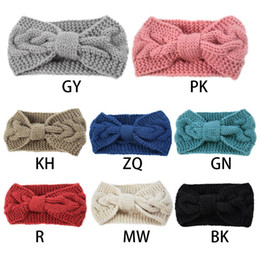 TwisTed cables online shopping - Womens Chunky Cable Knit Turban Headbands Bowknot Knit Hair Band Warm Winter Hair Band Twist Head Wrap Ear