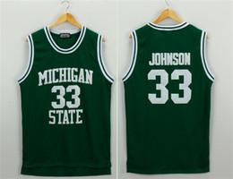 d0106c050 L Lakers online shopping - NCAA men s Basketball Jersey Elvin Johnson  University edition Green Lakers