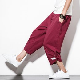 Chinese blaCk flats online shopping - Summer Chinese Style Retro Men Cotton  Linen Harem Pants Plus 6242f1e5712d