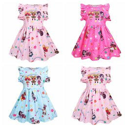 a5b2b5e627a Baby Girls Surprise Summer Dress Flouncy Sleeveless Ruffle Skirt Cosplay  Princess TUTU Skirts Baby Floral Print Party Dresses AAA2093
