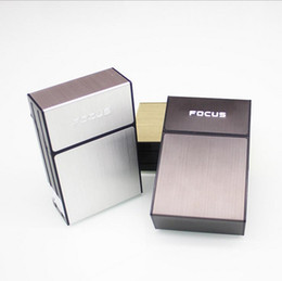 Wholesale Full Pack 20 Pieces plastic Cigarette Storage Box Capacity Flip Case Holder 3 colors can choose For Smoking Tools