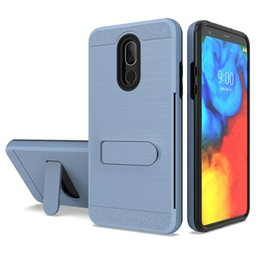 $enCountryForm.capitalKeyWord NZ - Dual Layer Lars Cover Phone Case Kickstand Metal Card Slot Holder Polished Back Cover for iPhone 8 7 Plus 6S XS Max XR