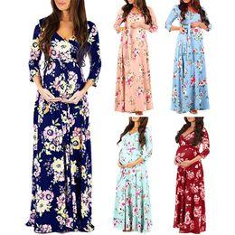 $enCountryForm.capitalKeyWord Australia - 2019 Autumn Maternity Long Dresses Women's Pregnancy Dress V-Neck Long Sleeve Clothes For Pregnant Women Nursing Dresses 14 Colors