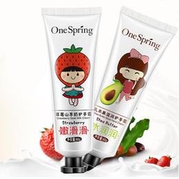 Strawberry milk online shopping - Strawberry Fruit Hand Cream Goat Milk Natural Cream Hand Care Filling Water Moisturizing Nourish Hand Cream Gel