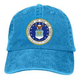 $enCountryForm.capitalKeyWord UK - 2019 New Cheap Baseball Caps USAir Force Trend Printing Cowboy Hat Fashion Baseball Cap For Men and Women Black