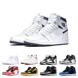Women high White boots online shopping - 1 OG Men Basketball Shoes High Chicago Hare Pine Green Barons Triple Black White Gold Top Designer Sneakers s Sport Shoes