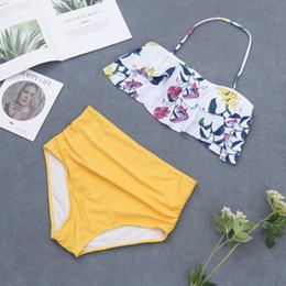 $enCountryForm.capitalKeyWord Australia - Plus Size Bandeau Bikinis Swimwear for Women Ruffles Swimsuit Bikini Set 2019 New Fashion Flouncing Swim Wear Bathing Suits Lady Beachwear