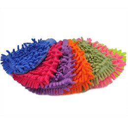 Chenille Towels Wholesale Australia - Single side Soft Cleaning Towel High density Coral Washing Gloves chenille Cleaning gloves Car washing supplies IA699