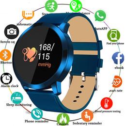 Q8 Smart Watch Australia - Q8 Touch Screen Smartwatch Heart Rate Fitness Smart Watch Men Women Ip67 Waterproof Sport Fitness Wearable Devices Electronics Y19052201