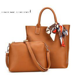 62e7a6a67161 good quality Women Bag Scarf Handbags Ladies Composite Bag Pu Leather  Shoulder Bags Brand Designer Casual Large Tote Bag Bolso