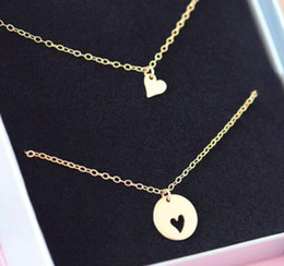 Wholesale Pendant Sets NZ - 2pcs a set Mother And Daughter Pendant Necklace Jewelry set Statement Necklaces Fashion jewelry for women Mom girls Mother's Day gift