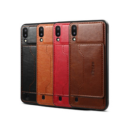 Samsung Cell Phone Holders Australia - For Samsung M10 Retro PU Leather Wallet Card Holder Stand Non-slip Shockproof Cell Phone Case
