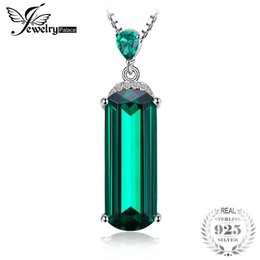 $enCountryForm.capitalKeyWord Australia - ccessories scarf JewelryPalace Fancy Cut 4.4ct Green Russian Nano Created Emerald 925 Sterling Silver Pendant Luxury Jewelry For Women Pa...