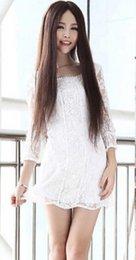 $enCountryForm.capitalKeyWord UK - WIG free shipping New Fashion Cosplay Party Brown Straight Long Wig Full Hair Wigs Parted Bang