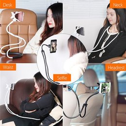 Hands Free Phone Holder Australia - Universal 360 Degree Hands Free Cell Phone Mounts Stands Degree Hanging Neck Bracket Creative Bedside Lazy Mobile Phone Bracket Phone Holder
