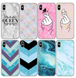 Discount cases for ipone - Mobile phone case pattern multi-marble mobile phone shell glacial stone painted mobile phone shell for ipone x 7 8