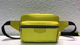 ladies handbag fabric Australia - 2019 designer handbag ladies fashion women's shoulder bag shopping bag dhm1998 Man M30251 yellow waist pocket chest bag.