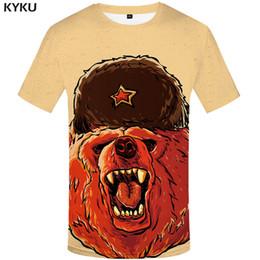Ivory Lycra Shirt Australia - wholesale Bear T-shirt Russia Shirts Clothes Tees Tshirt Clothing Men 3d T-shirt 2017 Hip hop Chinese Printed Short