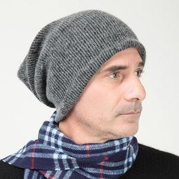 2bb4b50fd785b HISSHE Vintage Mens Winter Beanie Cap Slouchy Knit Beanie Hat For Men Long  Skullies Soft Warm Outdoor Ski Hat C18112301