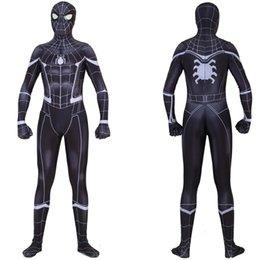 $enCountryForm.capitalKeyWord NZ - Asian Size Black Halloween Return Spiderman PS4 Superhero Unisex 3D Cosplay Costume Party Zentai Jumpsuit Catsuit Bodysuit