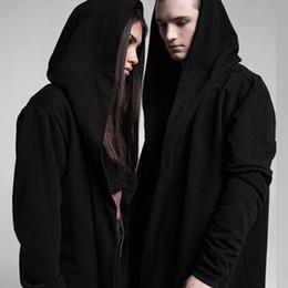Wholesale cape coat men black for sale - Group buy Halloween Women Men Unisex Gothic Outwear Hooded Coat Black Long Jacket Warm Casual Cloak Cape Hoodies Cardigans Tops Clothes