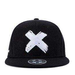 $enCountryForm.capitalKeyWord Australia - 2019new High Quality Unisex Cotton Snapback Cap 3D X Embroidery Mens Flat Brim Baseball Cap Fashion Hip Hop Hats