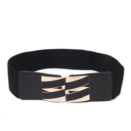 wholesale cinch belts UK - Women Plus Elastic Stretchy Retro Wide Waist Cinch Belt Cummerbund Black Wide Belts for Women Strap Waist Female Girls