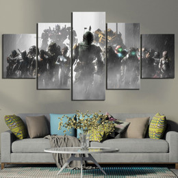 video game decor Australia - Home Decor Poster HD Pictures Prints Canvas 5 Piece Dead Space 2 3 Hot Video Game Living Room Art Decorative Painting Framed