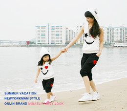 Mom Daughter Sets NZ - 2019 Family Look Kids Sport Suit Girl And Mother Clothes Mom And Daughter Vestido Mommy And Me Set Y190523