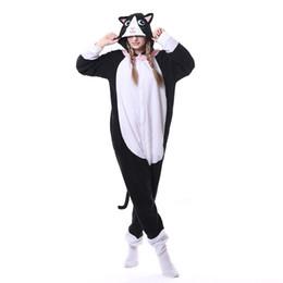$enCountryForm.capitalKeyWord NZ - Animal Black Cat Kigurumi Onesie Men Women Matching Pajama Overall Adult Sleepwear Cartoon Carnival Jumpsuit Fantasias