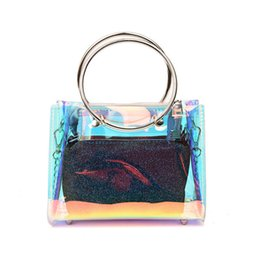 Transparent Computer NZ - good quality 2019 Summer Transparent Laser Bag Trendy Composite Bag Pvc Clear Handbag Lady Bag Fashion Women Shoulder Totes Chain Sac