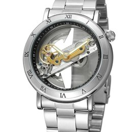 $enCountryForm.capitalKeyWord Australia - Forsining Mens Luxury Automatic Skeleton Steampunk Watches Minimalist Design Transparent Case Wristwatches Roman Number Watches SLZe13