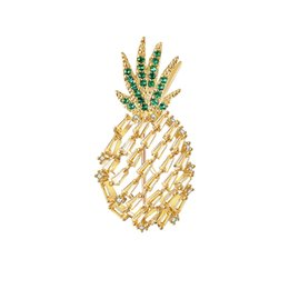 $enCountryForm.capitalKeyWord UK - Cute Personality Copper Brooch Exquisite Pineapple Compact Realistic Brooch Pin Backpack Dress Jewelry Accessories High Quality