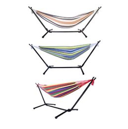 $enCountryForm.capitalKeyWord UK - Double Hammock With Space Saving Steel Stand Includes Portable Carrying Case US Shipping