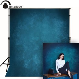 Spray Can Painting Australia - Allenjoy Thin Vinyl cloth photography Backdrop blue Indoor photography background cloth computer print can customized MH-079