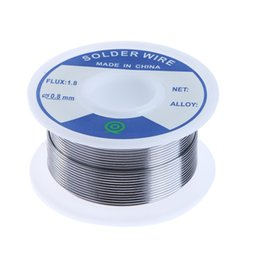 soldering wire lead free NZ - Welding Wires Lead-Free Tin Silver Solder Wire Flux 1.8 3% Silver 0.8mm Speaker DIY Material Solder Soldering Wire Roll