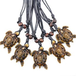 pendants strings Australia - Jewelry Wholesale 12PCS men women's jewelry Sea turtles Mother and Child pendants surf necklaces gifts TT8