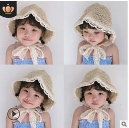 $enCountryForm.capitalKeyWord Australia - Qiu nan Korean version of summer children's handmade straw lace fisherman hat baby outdoor sun beach hat straw hat