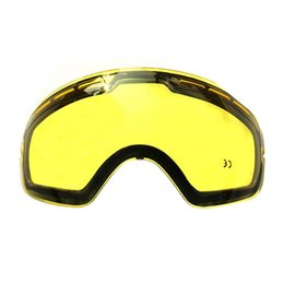 double lens ski goggles Canada - Hot !Double brightening lens for ski goggles Night of Model Number GOG-201 For weak Light tint Weather Cloudy ski mask Y200616