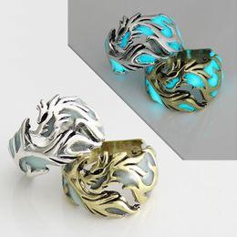 $enCountryForm.capitalKeyWord Australia - Kendra European and American Vintage Men's Rings Lightweight Dragon Rings Adjustable Night Lights Club Bars and Bands Rings